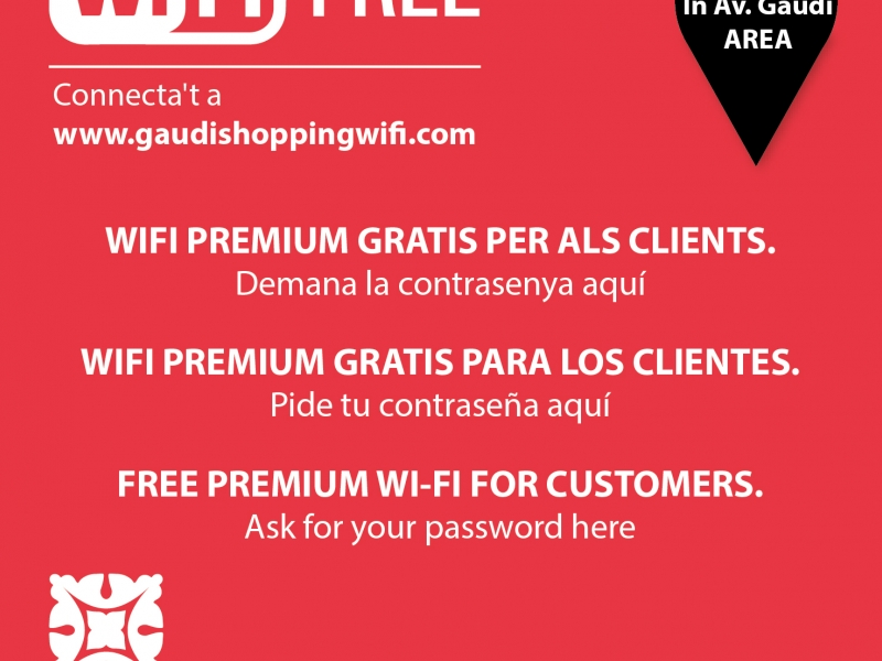 Get the free Gaudí Shopping Area App to connect and know better the area!  (1)
