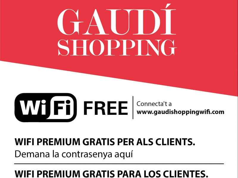Get the free Gaudí Shopping Area App to connect and know better the area!