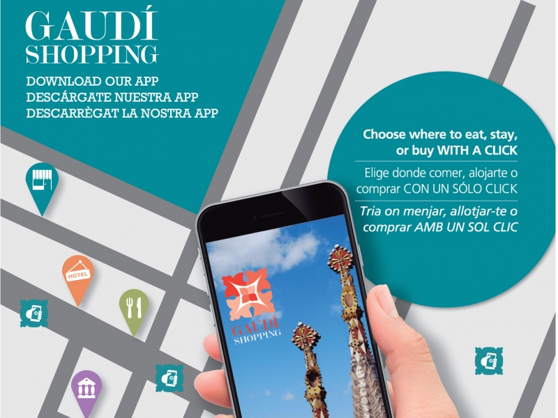 Are you near La SAGRADA FAMILIA? Get the free Gaudí Shopping Area APP to connect and know better the area!