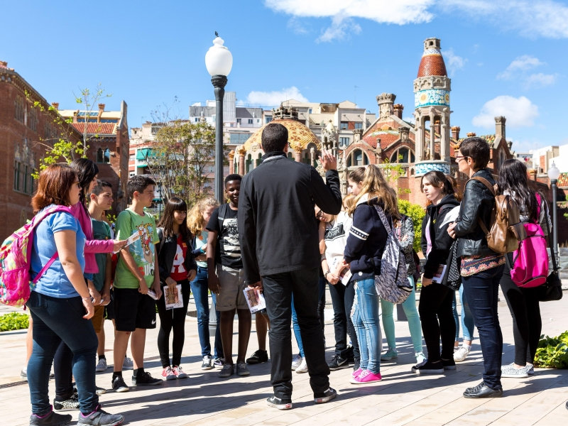 Lluís Domenech i Montaner, The Architect of the people. Visit the  Recinte Modernista de Sant Pau. draw tickets