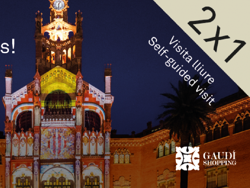 2X1 coupons for free visits to the Recinte Modernista de Sant Pau