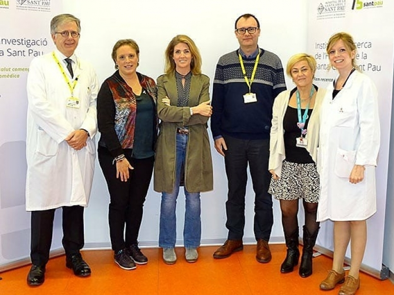 The € 1,179.29 collected during the solidarity campaign by the merchants of Gaudi Shopping have already been delivered to the Research Institute of the Hospital de Sant Pau!